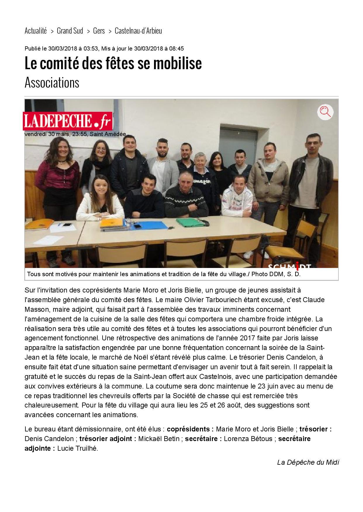 Le comite des fetes se mobilise 30 03 2018 ladepeche fr page 001